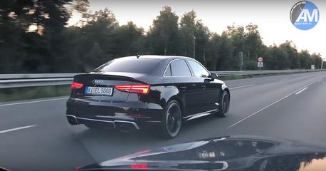 影/原廠設定Audi RS3 Sedan比藍寶堅尼Gallardo.超跑還快!