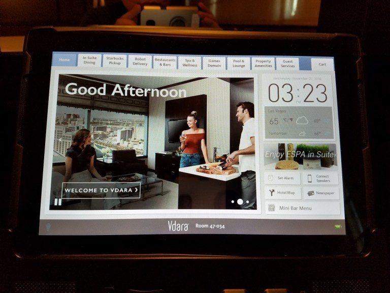 與Aria酒店相同,有一個平板來分享酒店內的資訊 圖文來自於:TripPlus