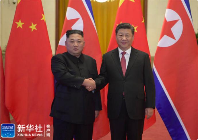 1月8日,中共中央總書記習近平與當日抵北京的北韓領導人金正恩舉行會談。會談前,習...