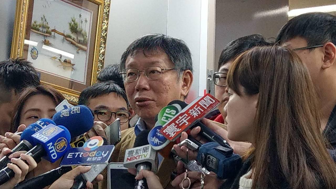 台北市長柯文哲上午在台北市政府受訪。記者楊正海/攝影