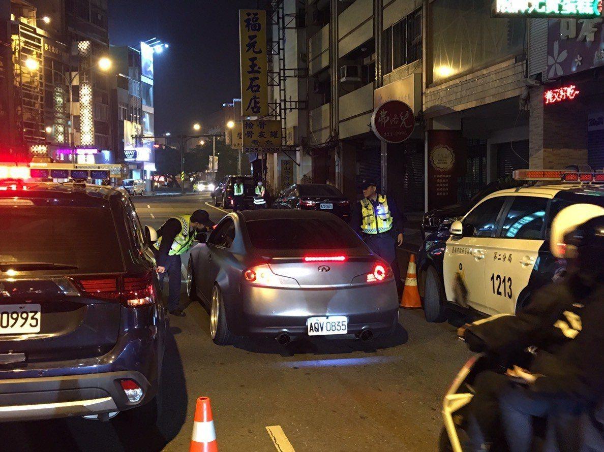 天冷酒後駕車多,台南市警二分局本月以來已取締28件酒駕。圖/台南市警二分局提供