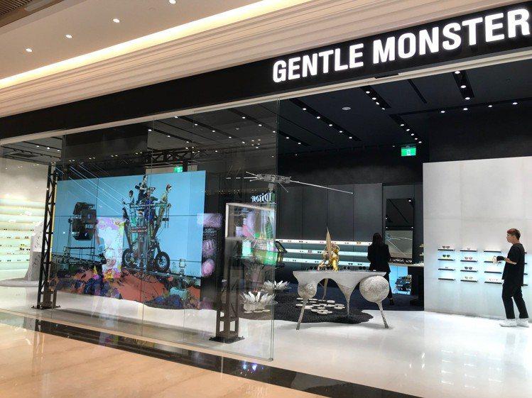 微風南山一樓的GENTLE MONSTER,是孫芸芸愛店之一。圖/記者江佩君攝影