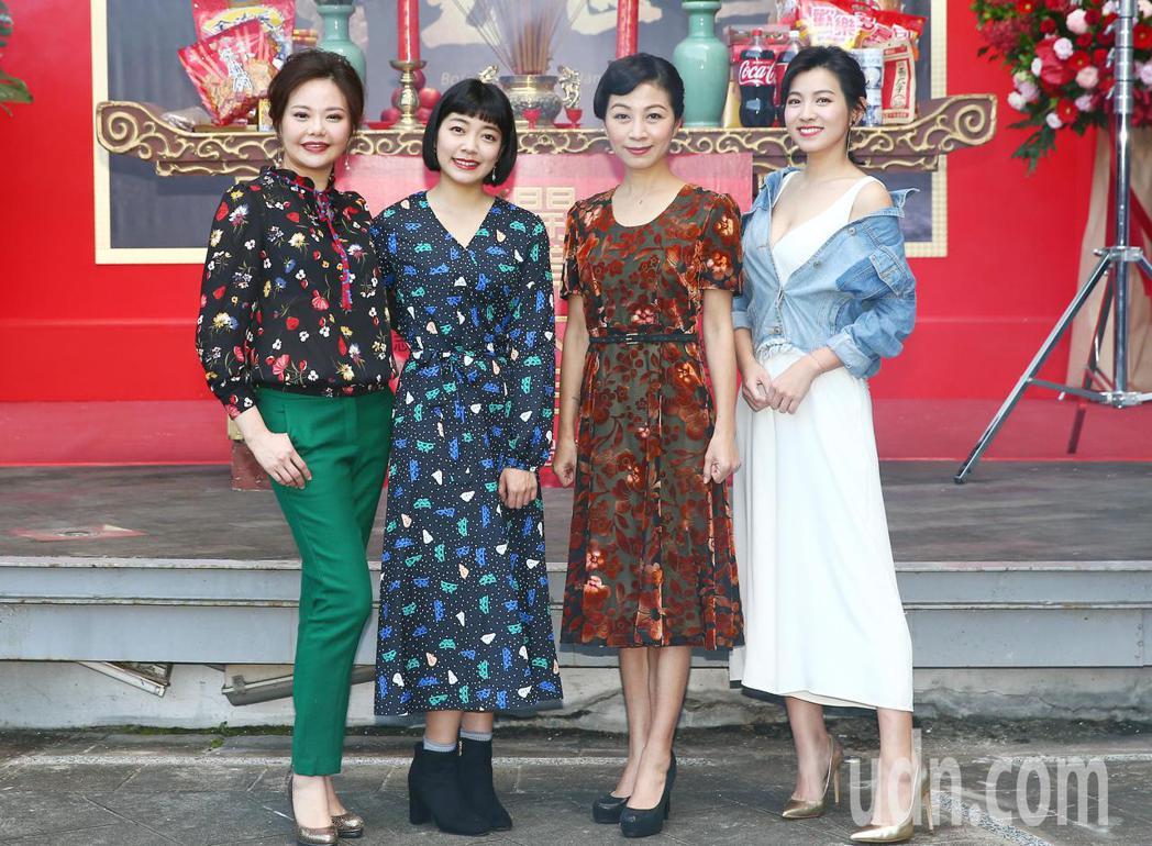「生生世世」劇中四位助產士林嘉俐(左起)、林雨宣、方文琳、米可白。記者杜建重/攝...