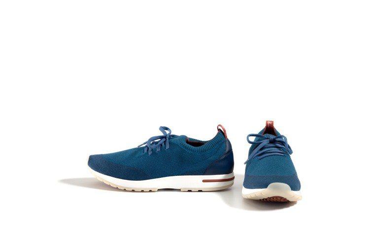 鞋身重量僅360克的美麗諾羊毛鞋面運動鞋為男裝特色配件。圖/Loro Piana...