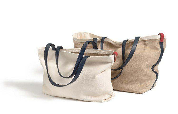 Inside Out小牛皮、喀什米爾手袋是可以雙面使用的包款。圖/Loro Pi...