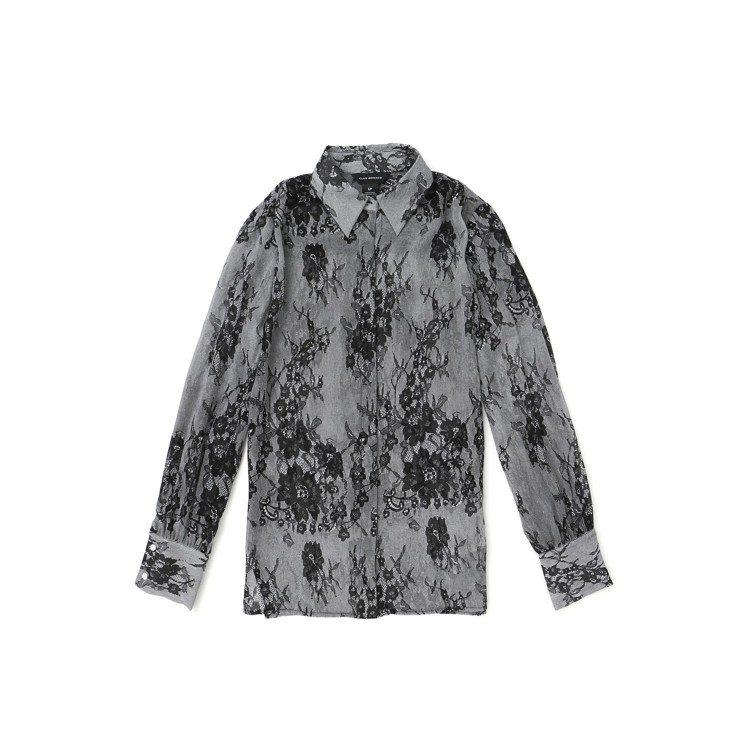 黑色蕾絲襯衫。圖/Club Monaco提供