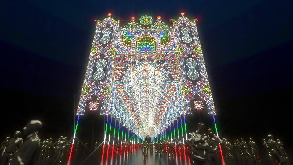 2019台北光之饗宴,大年初一至元宵節一連15天展出。圖/全聯提供