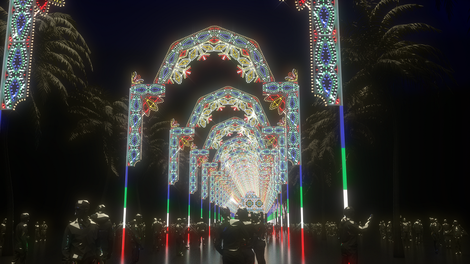 國際級的大型光雕裝置藝術即將登台。圖/全聯提供