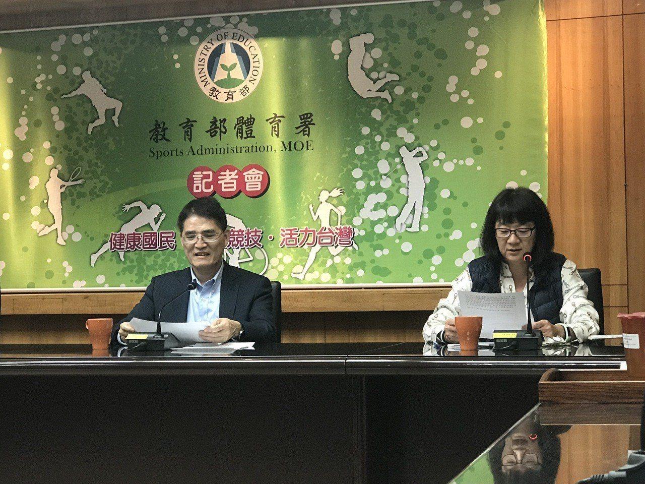 體育署長高俊雄(左)。記者毛琬婷/攝影