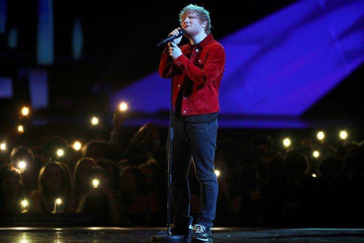 紅髮艾德是當今全球樂壇整年度巡迴演出收入最高的紅星。圖/路透資料照片