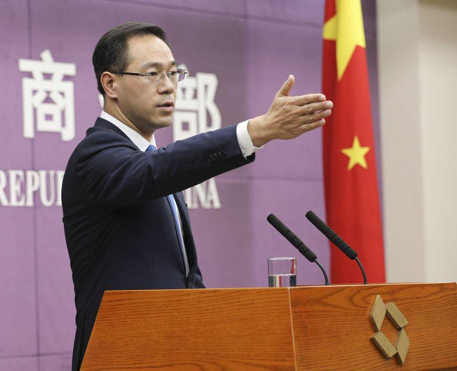 中國商務部發言人高峰表示,中美經貿磋商有進展。 (中新社)