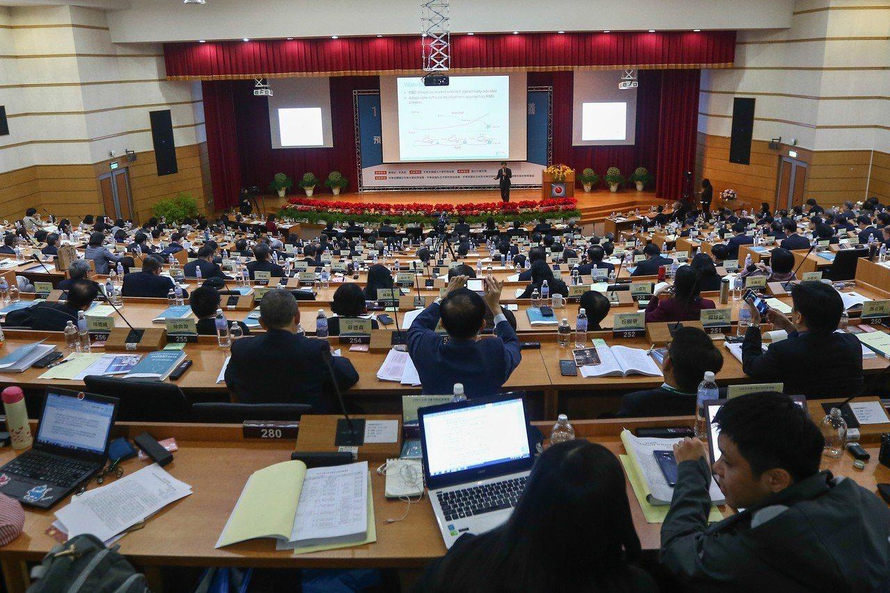 全國大學校長會議在台中中興大學舉行。 記者黃仲裕/攝影