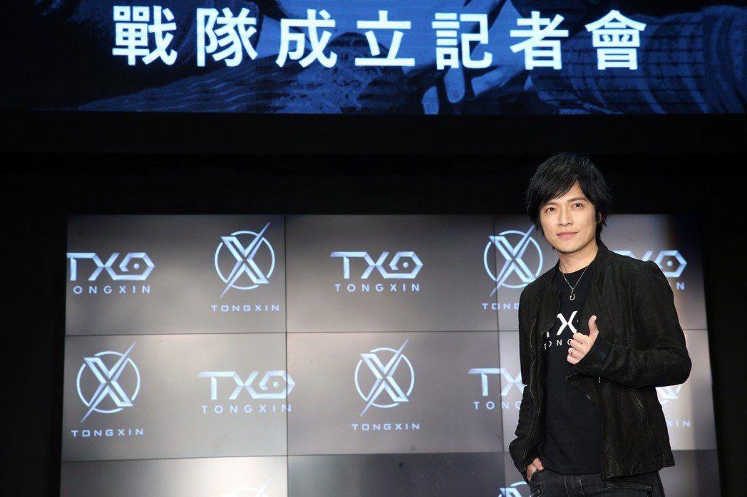 樂團五月天的團長怪獸今天加入TXO戰隊成為第六人及精神領隊。記者徐兆玄/攝影