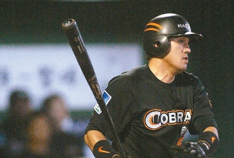 謝佳賢在誠泰Cobras隊時期。 聯合報系資料照