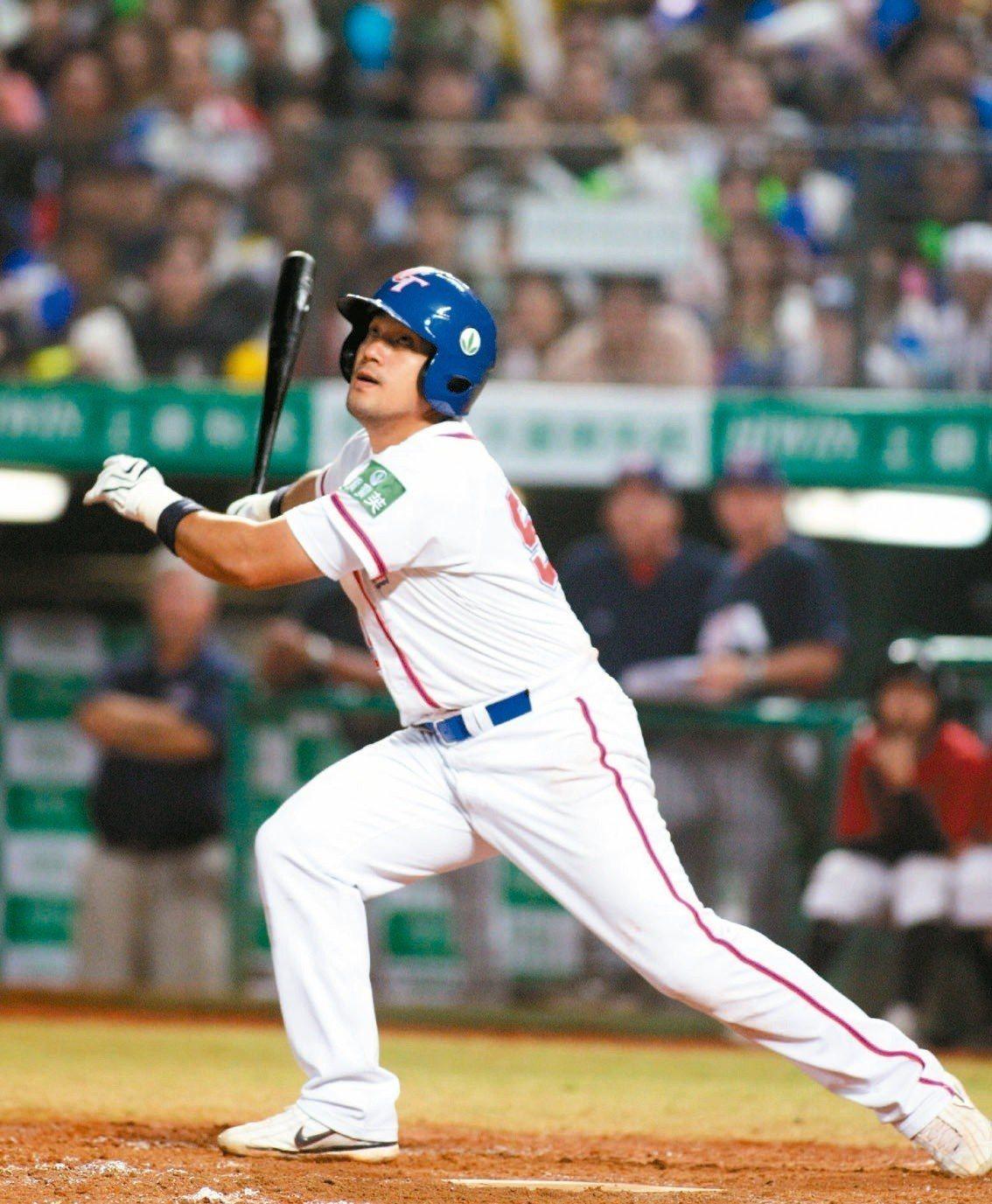 謝佳賢過去是中華隊第一左打,參與過不少國際賽。 聯合報系資料照
