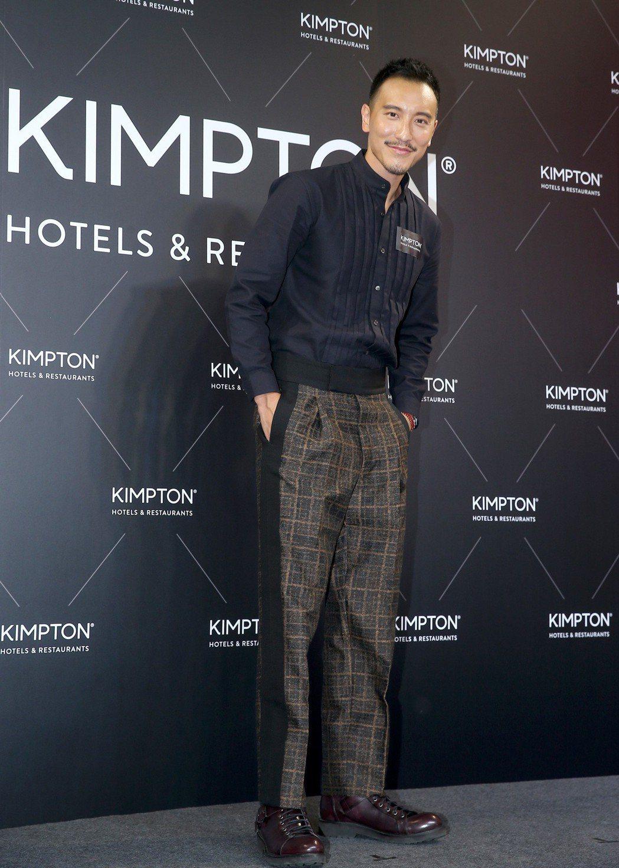 王陽明出席金普頓世界風格快閃酒店記者會。記者余承翰/攝影