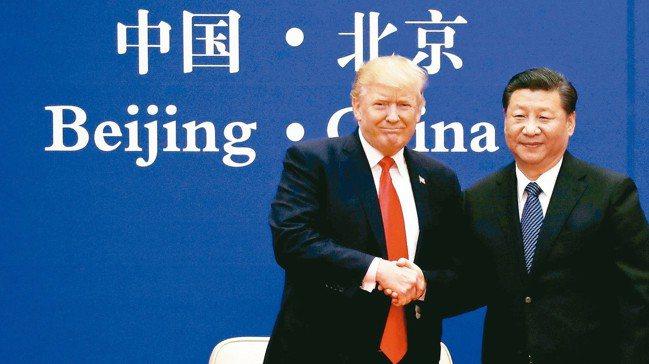 美中貿易談判沒突破,市場樂觀氛圍消退。圖為美國總統川普(左)及中國國家主席習近平...