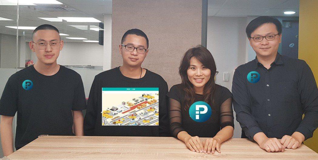 林香君(右二)與新創團隊合影。 智影顧問/提供