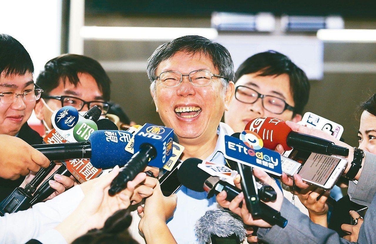 台北市長柯文哲上午接受媒體記者聯訪,針對新閣揆、內閣團隊、兩岸議題等進行回應。 ...
