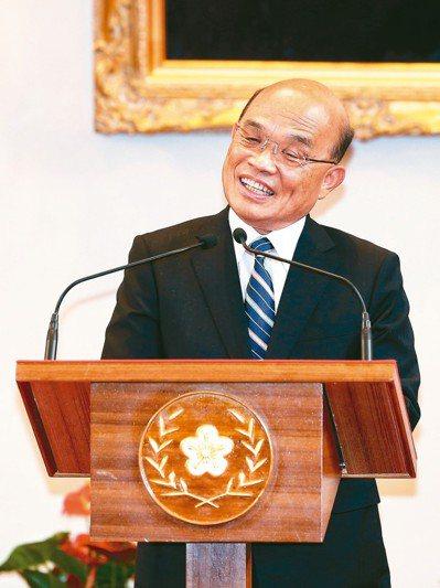 總統府上午舉行記者會,即將接任閣揆的蘇貞昌在總統府發表談話。 記者鄭清元/攝影