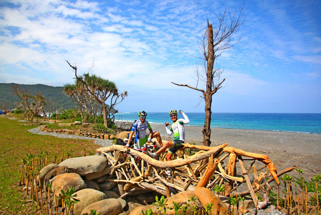 台26線港仔至旭海段路邊空地種植濱海植物,並請木工藝術家打造造型優美的藝術休憩設...