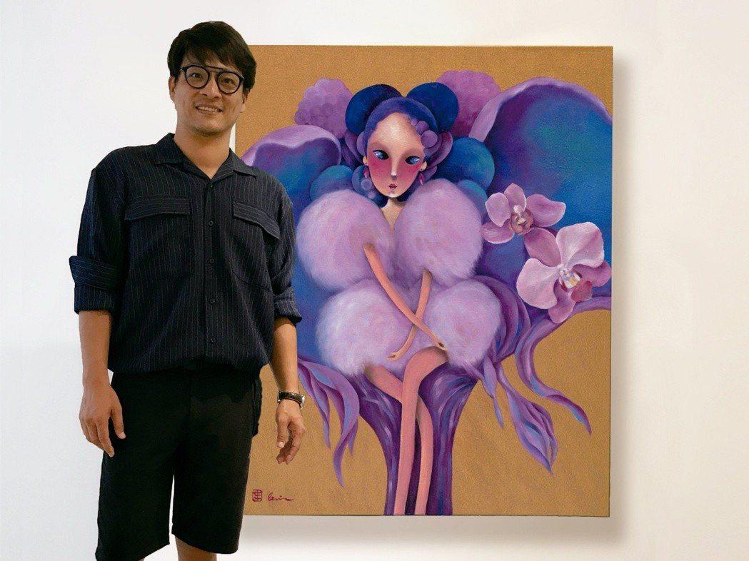 今年臺灣國際蘭展與跨界藝人「東明相」合作聯名鏡子「蘭鏡」。