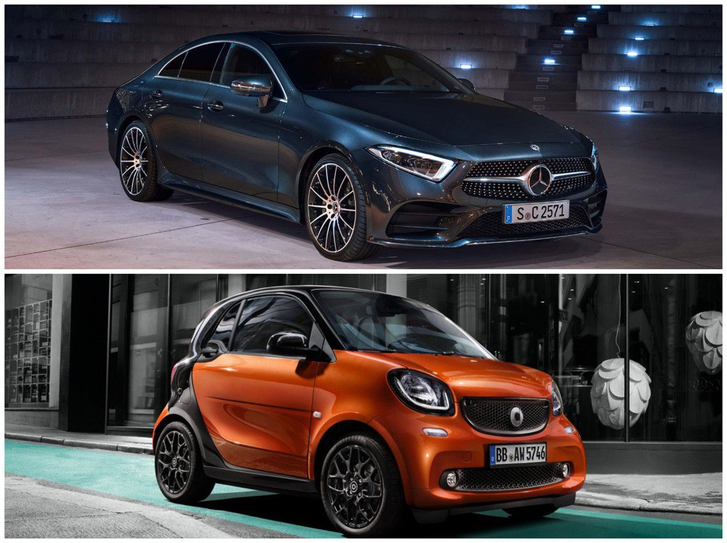 Mercedes-Benz與Smart兩個品牌去年合計售出2,438,987輛,...