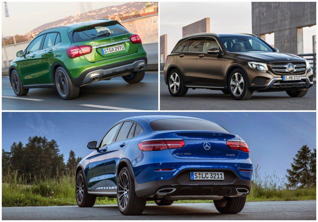 GLA與GLC車系為Mercedes-Benz在2018年最熱賣的兩款SUV。 ...
