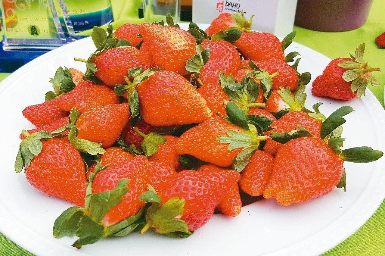 草莓香甜多汁、鮮豔欲滴。