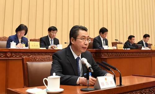 圖2:國知局局長申長雨在中國人大常委會報告專利法修正案 (來源:中國人民代表大會...