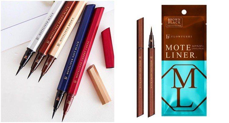 FLOWFUSHI極致升級MOTE魅力爆棚眼線液筆,#棕黑色。圖/Bella儂儂...