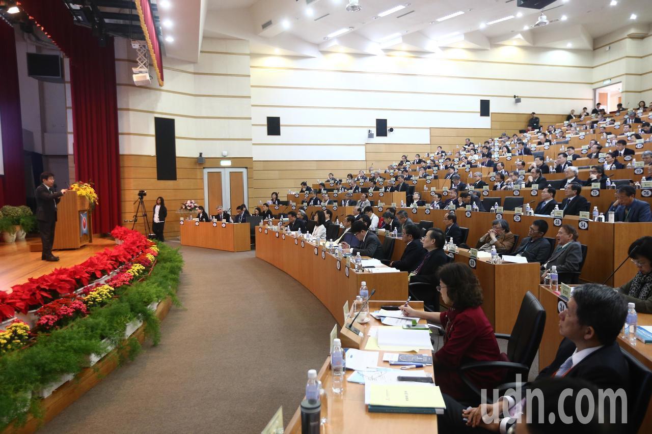 今年全國大學校長會議有逾百所校長出席。記者黃仲裕/攝影