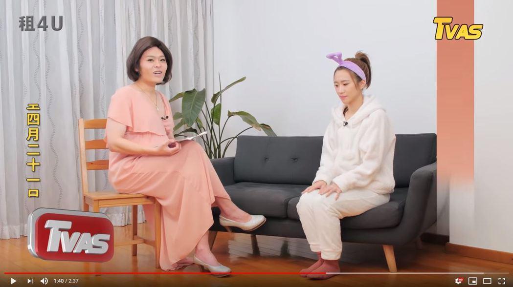 又仁模仿「方念滑」訪問Lulu。圖/TVBS提供