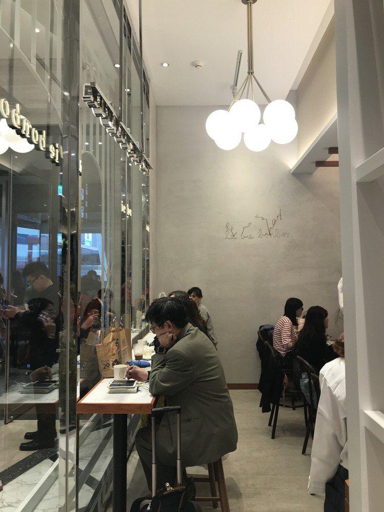 la vie bonbon的用餐空間。圖/記者江佩君攝影