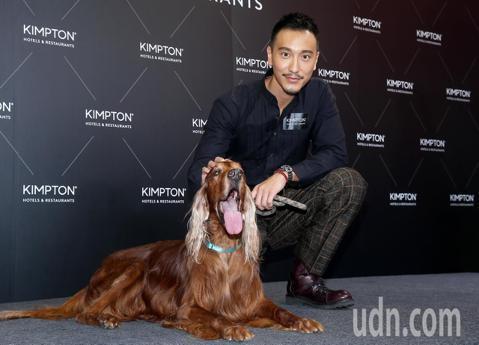 王陽明出席金普頓世界風格快閃酒店記者會。