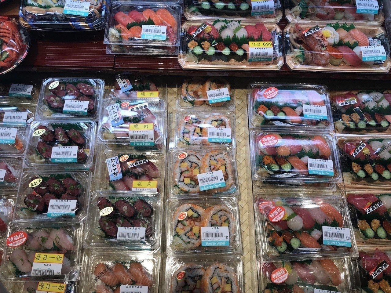 壽司種類選擇多樣化。記者江佩君/攝影