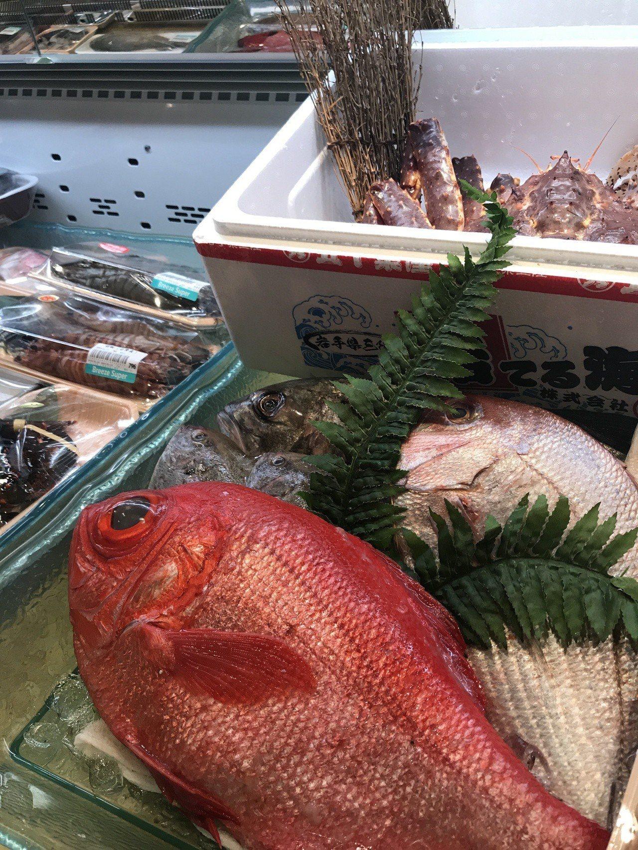 微風超市南山旗艦店的海鮮陳列相當澎湃。記者江佩君/攝影
