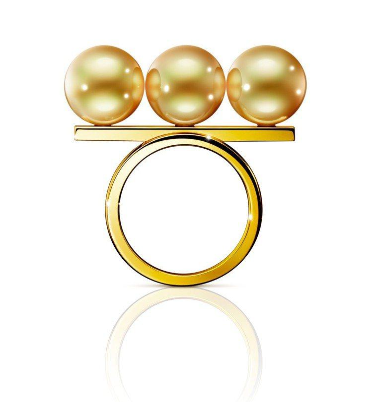 TASAKI balance noble 南洋黃金珠黃K金戒指,26萬2,000...