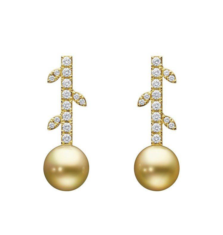 TASAKI kugel 南洋珍珠鑽石黃金耳環,22萬8,000元。圖/TASA...