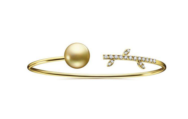 TASAKI kugel 南洋珍珠鑽石黃金手環,15萬1,000元。圖/TASA...