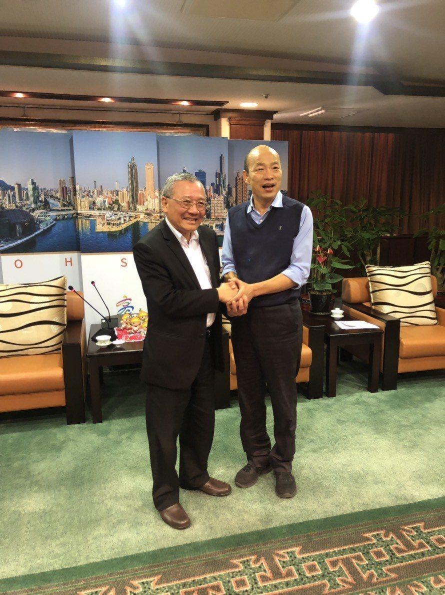 中油董事長戴謙拜會高雄市長韓國瑜。(圖/中油提供)