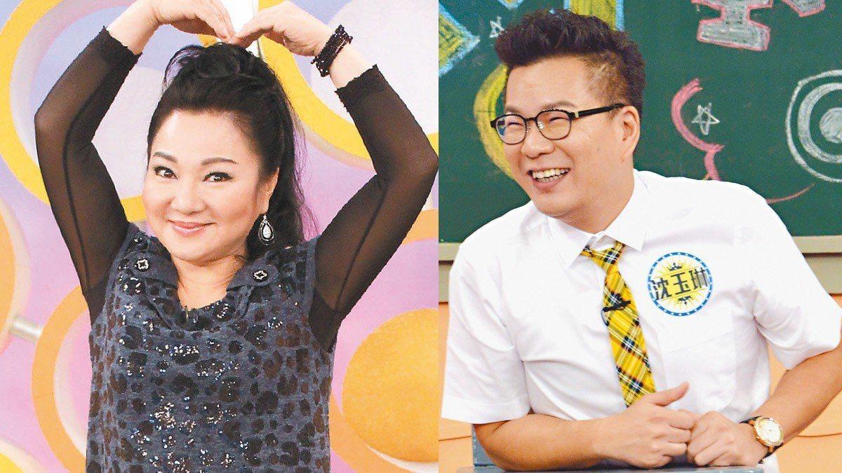 白冰冰(左)、沈玉琳都是挺高雄的藝人,如今要搭檔合作節目。圖/緯來、華視提供,合...