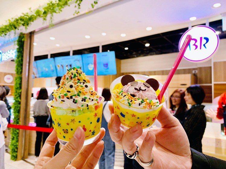 台灣限定的彩色怪獸(左)、可愛貓熊(右),售價140元。圖/記者張芳瑜攝影