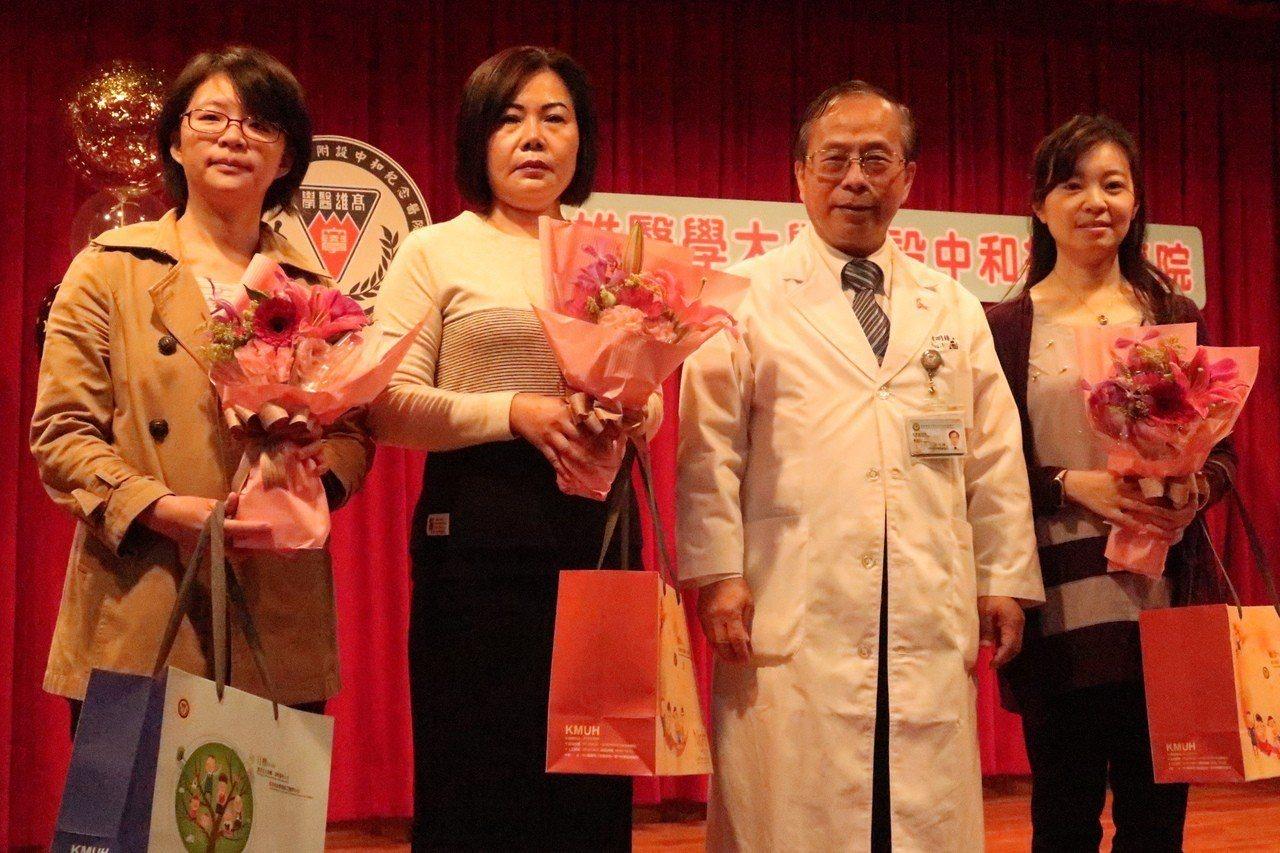 高醫婦產部慶祝海扶刀治療突破566例。記者徐如宜/攝影