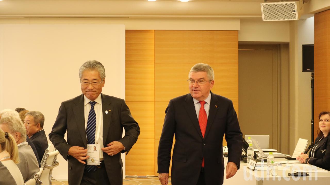 日本奧運委員會會長竹田恒和(左)捲入涉嫌透過行賄贏得2020東京奧運主辦權疑雲。...