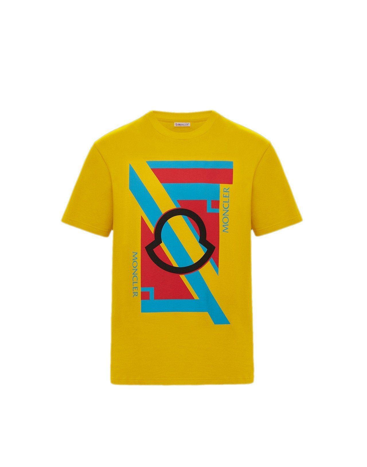 Maglia亮黃色短袖T恤,售價9,700元。圖/MONCLER提供