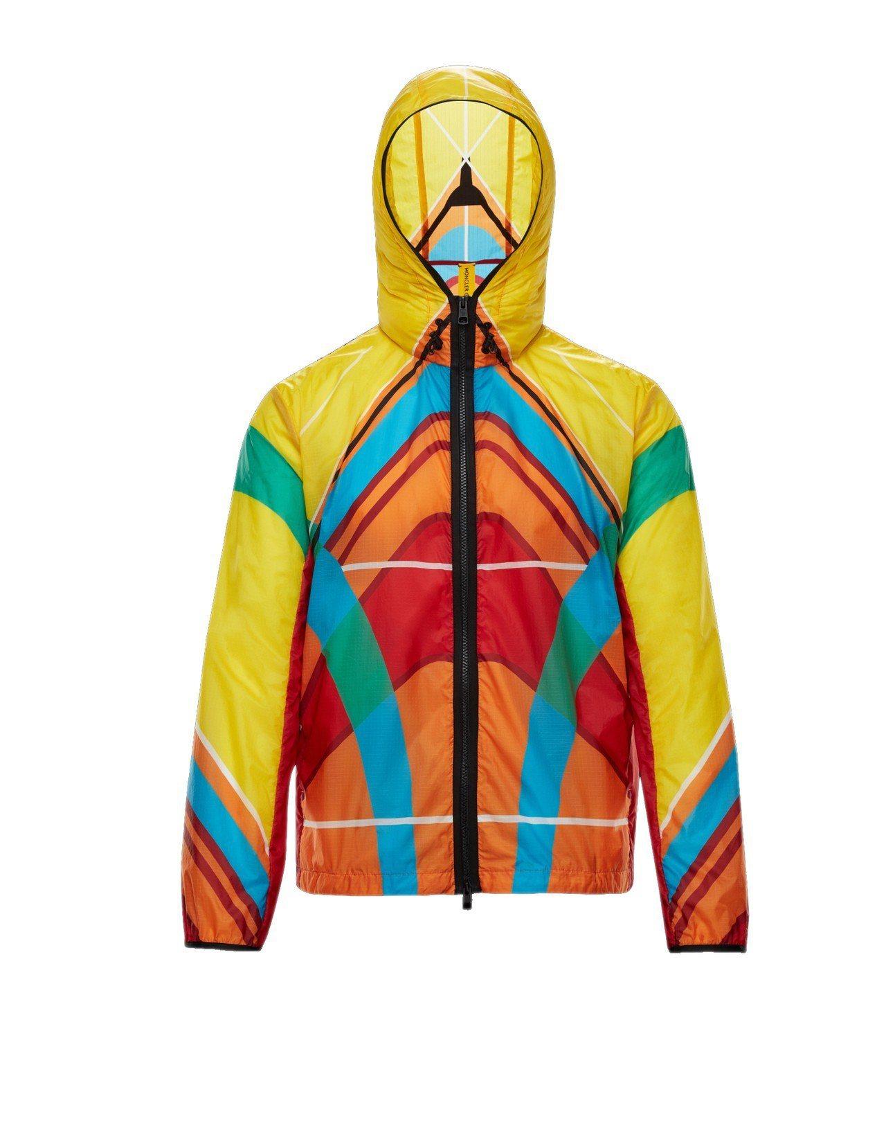Spinner多彩撞色外套,售價56,700元。圖/MONCLER提供