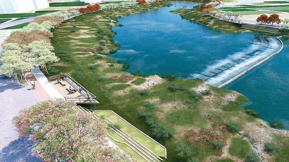 台中市推動筏子溪景觀工程,除改善水質,規劃拆除林厝排水匯入筏子溪處的攔水堰,並在...