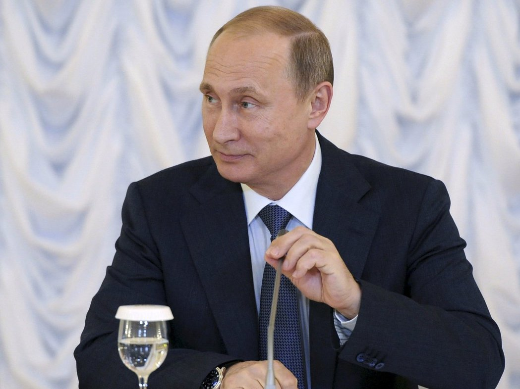 普亭在2000年首次當選俄國總統。 (路透)