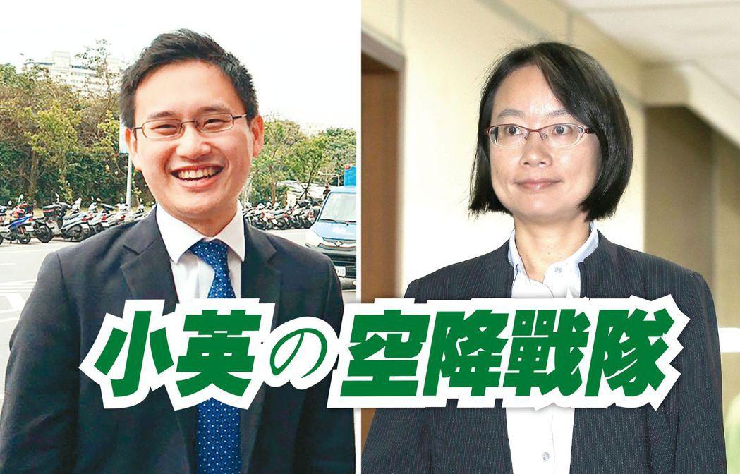 口譯哥趙怡翔(左)與吳音寧。圖/聯合報系資料照片